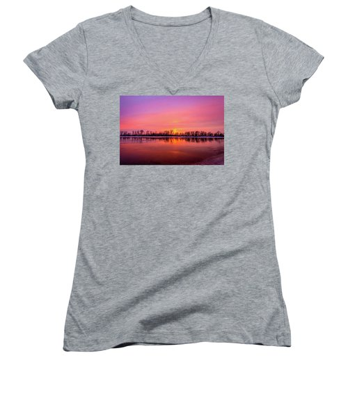 Sandy Chute Sunset Women's V-Neck