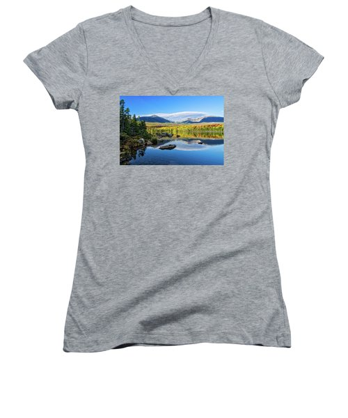 Sandy Stream Pond Baxter Sp Maine Women's V-Neck T-Shirt