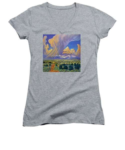 Sangr De Christo Passage Women's V-Neck T-Shirt