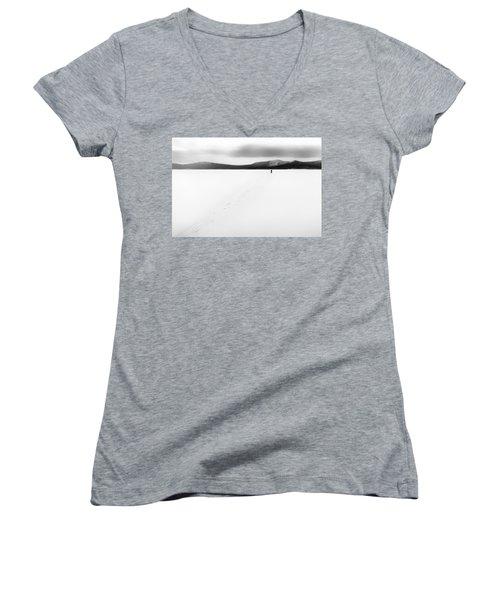 Sannikov Land Women's V-Neck T-Shirt (Junior Cut) by Hayato Matsumoto