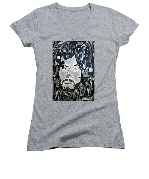 Sansonetti Man Women's V-Neck T-Shirt (Junior Cut) by Gino Sansonetti