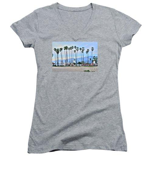 Santa Barbara From The Sea Women's V-Neck (Athletic Fit)