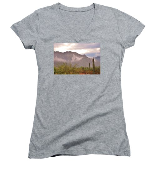 Santa Catalina Mountains II Women's V-Neck (Athletic Fit)