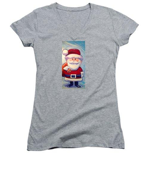 Santa Claus Women's V-Neck (Athletic Fit)