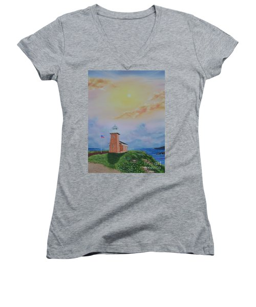 Santa Cruz Sunset Women's V-Neck