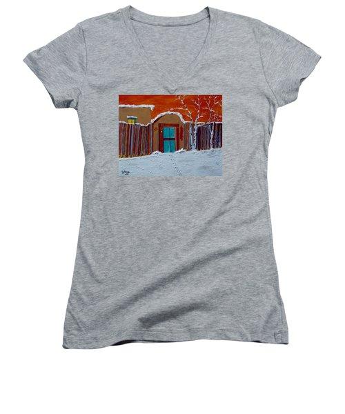 Santa Fe Snowstorm Women's V-Neck T-Shirt