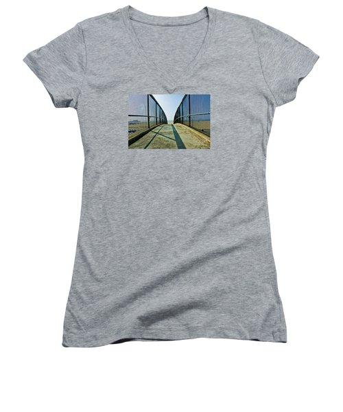 Santa Monica Beach California Women's V-Neck T-Shirt