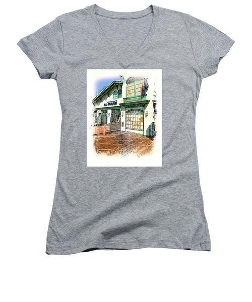 Santa Monica Pier Ver 2 Women's V-Neck T-Shirt