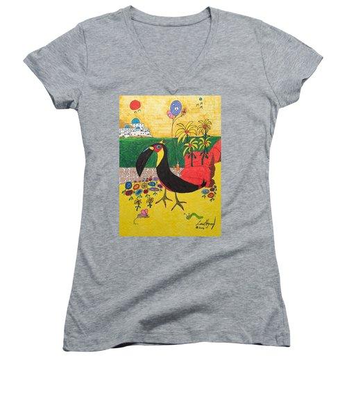Santorini-esque Women's V-Neck T-Shirt