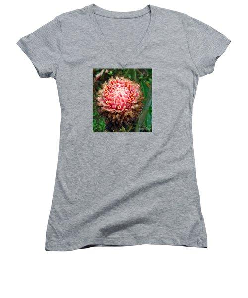 Sao Tome Blosssom Women's V-Neck T-Shirt