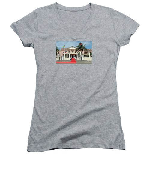 Sao Tome City Hall Women's V-Neck T-Shirt