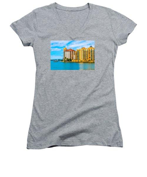 Sarasota Architecture Women's V-Neck