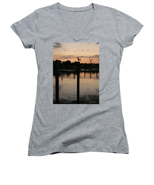 Sarasota Sunset1 Women's V-Neck (Athletic Fit)