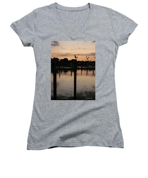 Sarasota Sunset1 Women's V-Neck