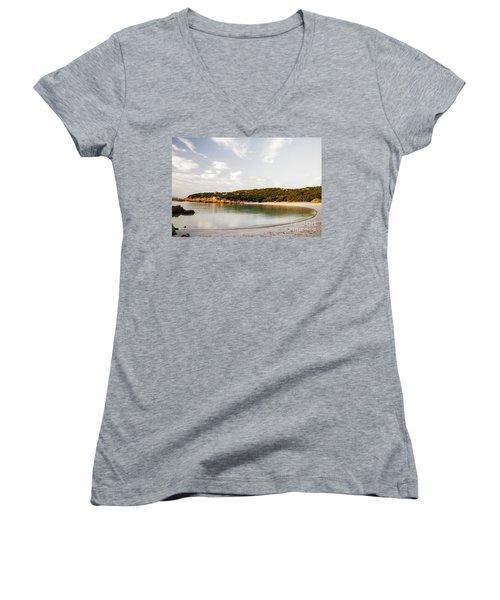 Sardinian View Women's V-Neck T-Shirt (Junior Cut) by Yuri Santin