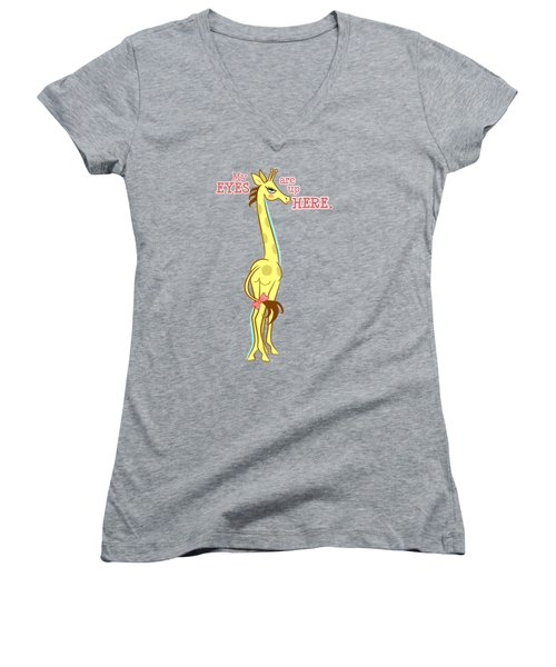 Sassy Giraffe Women's V-Neck (Athletic Fit)
