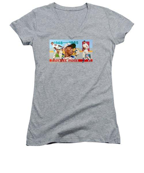 Satchel Paige Women's V-Neck T-Shirt