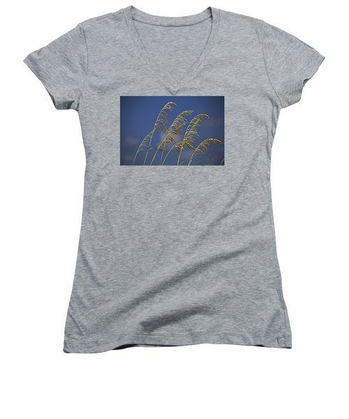 Women's V-Neck T-Shirt featuring the photograph Saturday Sway by Michiale Schneider