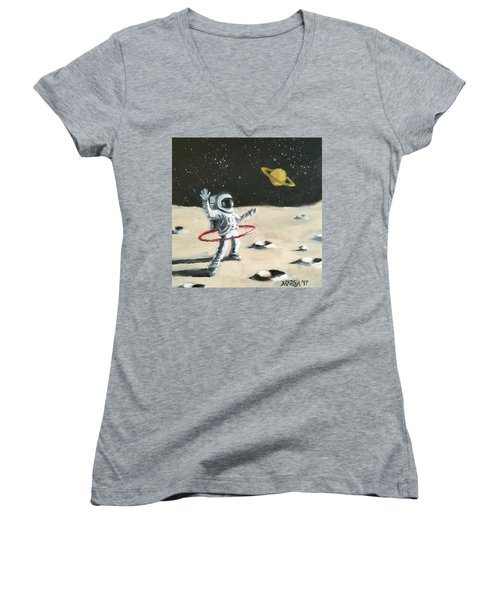 Saturn Ring Women's V-Neck T-Shirt