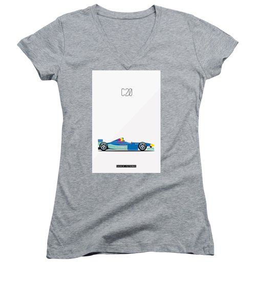Sauber Petronas C20 F1 Poster Women's V-Neck T-Shirt
