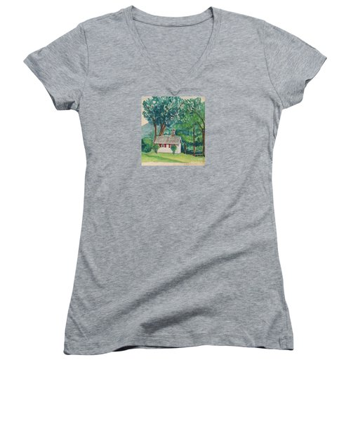 Sauna At Murray Hollow Women's V-Neck T-Shirt