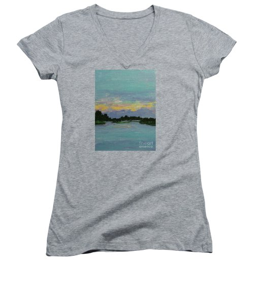 Savannah Sunrise Women's V-Neck (Athletic Fit)