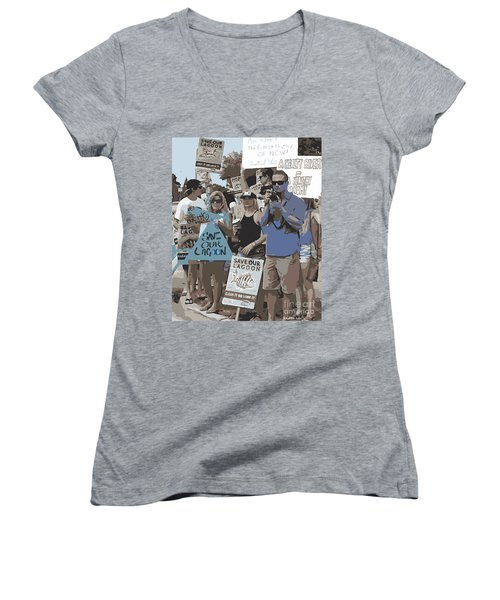 Save Our Lagoon Women's V-Neck