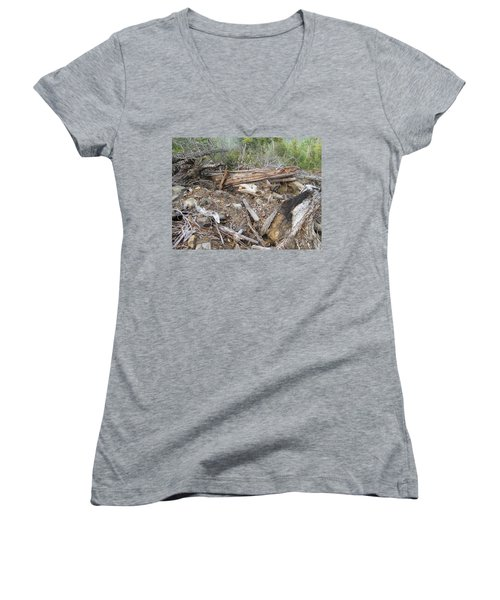 Women's V-Neck T-Shirt (Junior Cut) featuring the photograph Save The Last Bite For Me by Marie Neder