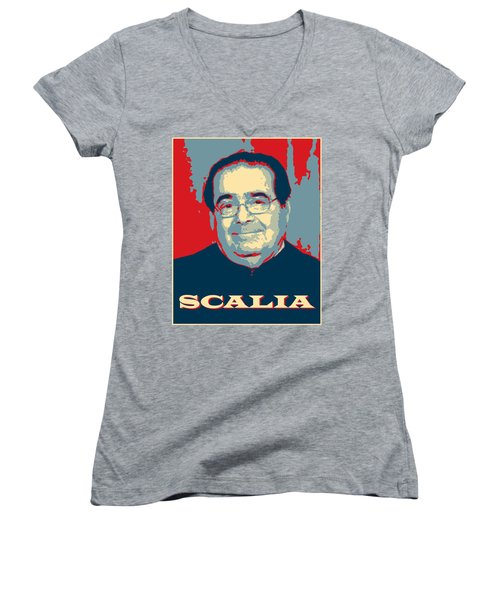 Scalia Women's V-Neck T-Shirt (Junior Cut) by Richard Reeve