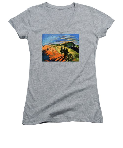 Scapen Shadows Women's V-Neck T-Shirt