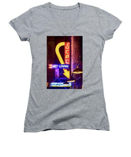 Scat Jazz Neon V3 Women's V-Neck