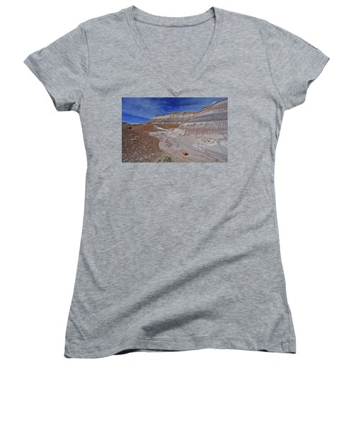 Scattered Fragments Women's V-Neck T-Shirt (Junior Cut) by Gary Kaylor