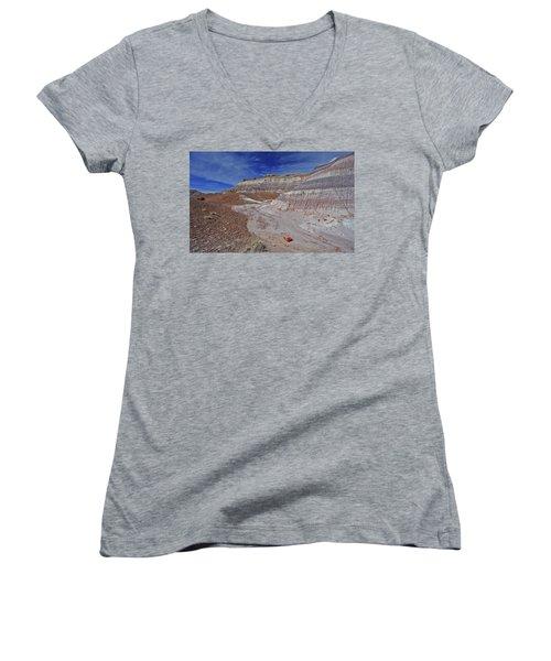 Scattered Fragments Women's V-Neck T-Shirt