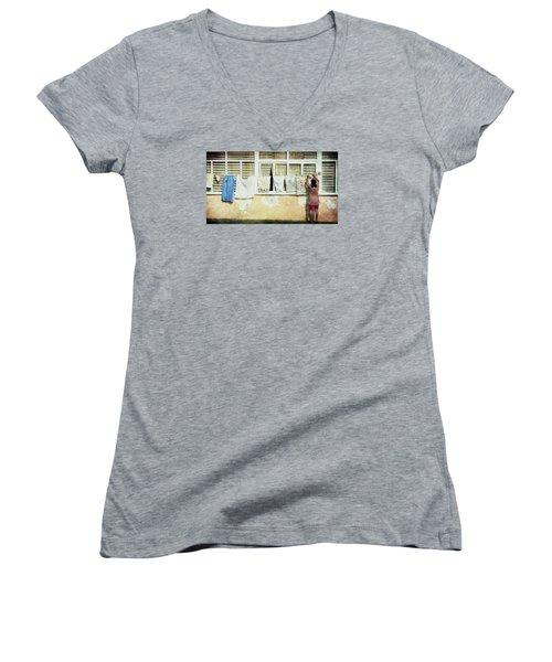 Scene Of Daily Life Women's V-Neck T-Shirt