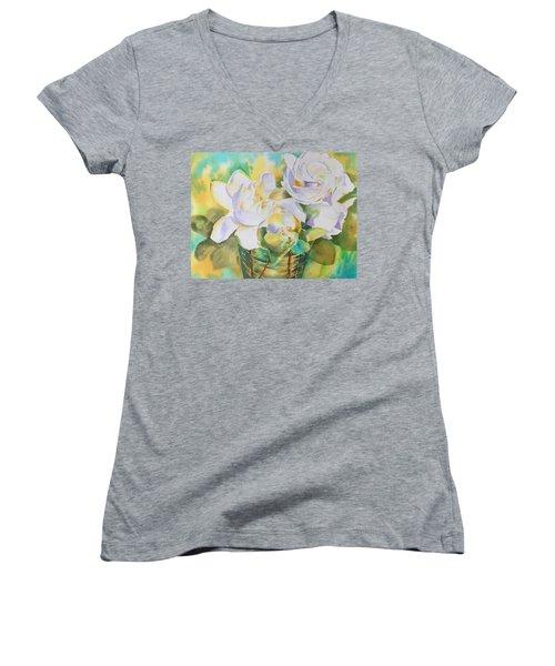 Scent Of Gardenias  Women's V-Neck