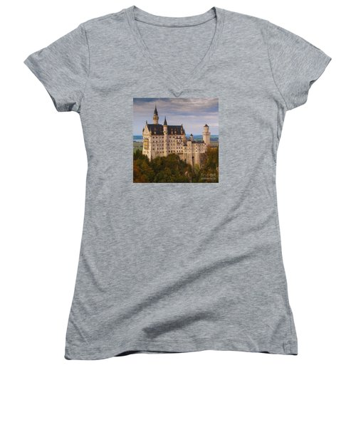 Schloss Neuschwanstein Women's V-Neck T-Shirt