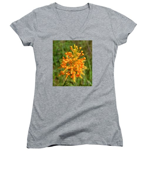 School Bus Yellow Women's V-Neck T-Shirt (Junior Cut) by Lew Davis