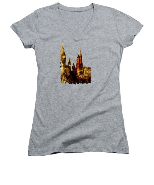 School Of Magic Women's V-Neck T-Shirt (Junior Cut) by Anastasiya Malakhova