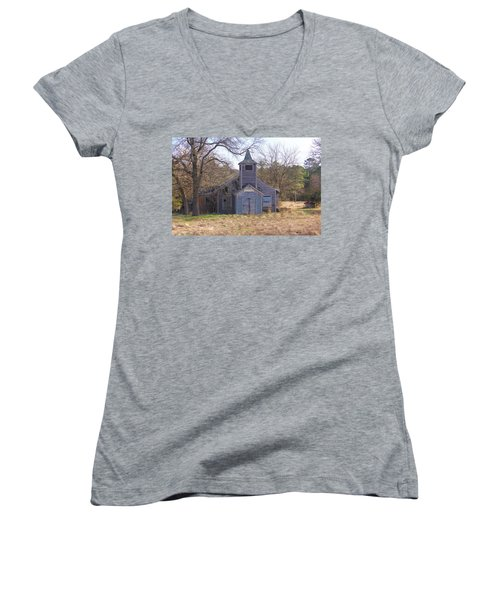 Schoolhouse#3 Women's V-Neck (Athletic Fit)