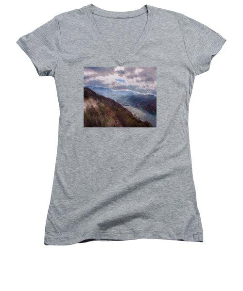 Scottish Landscape Women's V-Neck