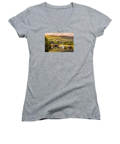 Scottish Loch 3 Women's V-Neck T-Shirt