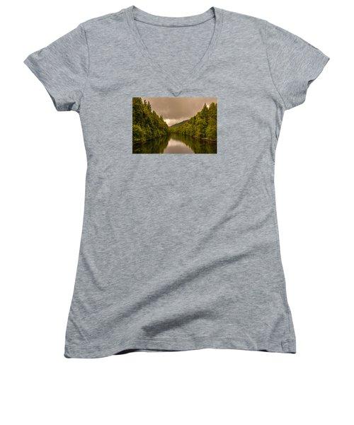 Scottish Loch 5 Women's V-Neck T-Shirt