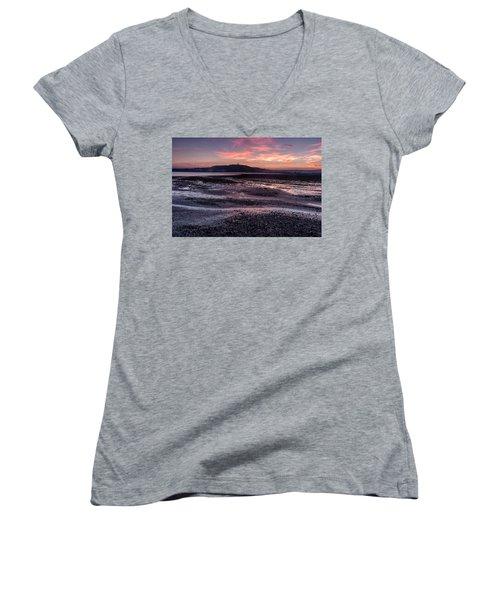 Scrabo Above Strangford Lough Women's V-Neck T-Shirt