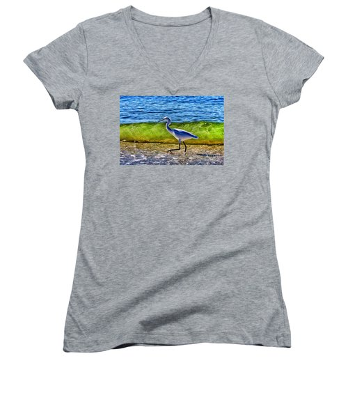 Scrambling Women's V-Neck T-Shirt