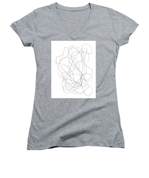 Scribble For Grin And Bear It Women's V-Neck (Athletic Fit)