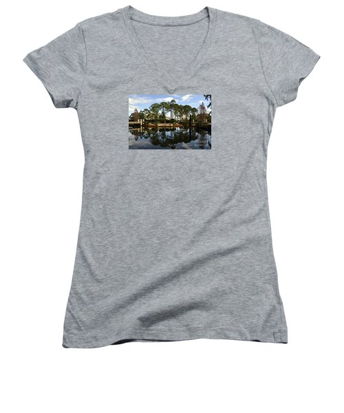Sculpture Garden Women's V-Neck (Athletic Fit)