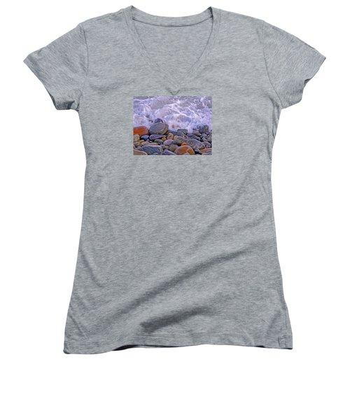 Sea Covers All  Women's V-Neck T-Shirt (Junior Cut) by Lynda Lehmann