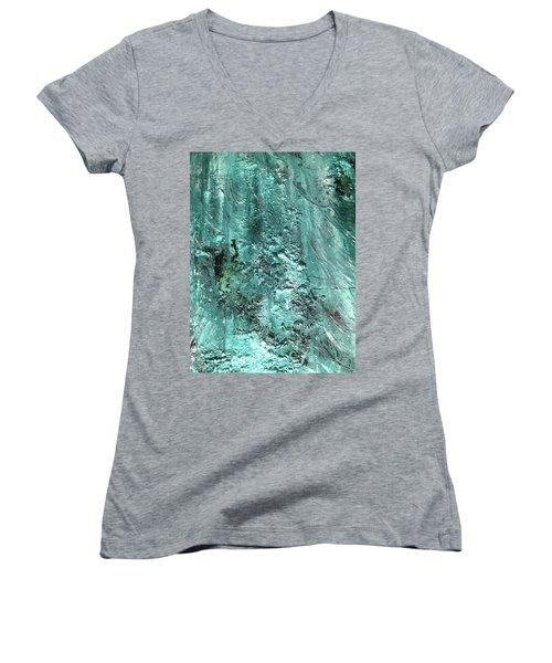 Sea Foam Women's V-Neck T-Shirt