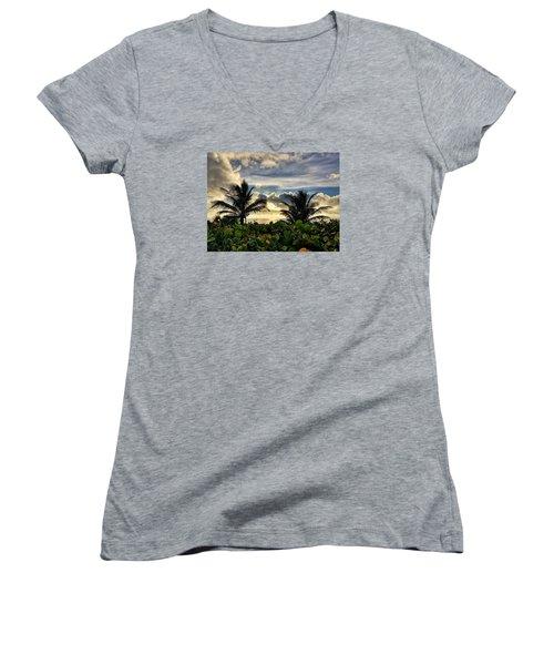 Sea Grapes And More Women's V-Neck T-Shirt (Junior Cut)
