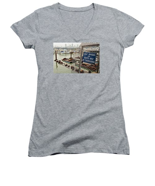 Sea Lions Take Over, San Francisco Women's V-Neck